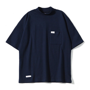XERO - Oversize Mock Neck T-Shirts (Navy)