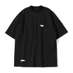 XERO - Oversize Mock Neck T-Shirts (Black)