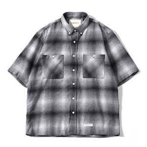 XERO - Oversize Big Check Nap Shirts (Grey)