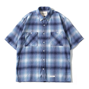 XERO - Oversize Big Check Nap Shirts (Blue)
