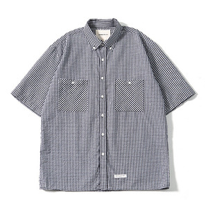 XERO - Oversize Gingham Check Shirts (Black)